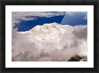 Aerial View Of Mountains, Annapurna Sanctuary, Nepal Picture Frame print