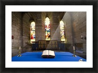 Church And Open Bible, Holy Island, Bewick, England Picture Frame print