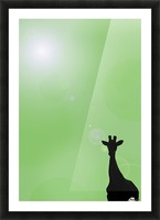 Silhouette Of A Giraffe Picture Frame print