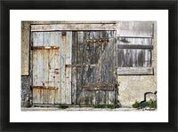 Old Wooden Door Of Building Picture Frame print