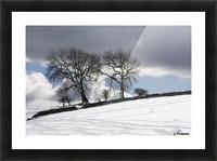 Snowy Field, Weardale, County Durham, England Picture Frame print