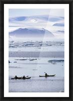 Kayaking, Nunavut, Canada Picture Frame print