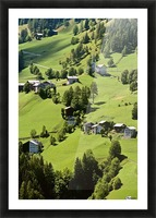 Mountain Village In Dolomites, Italy Picture Frame print