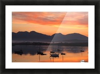 Sunrise At Roundstone Harbour With 12 Bens, Galway, Ireland Picture Frame print