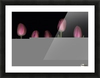 Pink Tulips Picture Frame print
