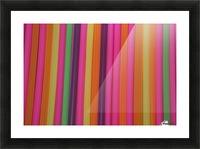 Drinking Straws Picture Frame print