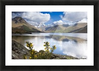 Mountains And Lake, Lake District, Cumbria, England, United Kingdom Picture Frame print