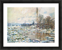 Break Up of Ice by Monet Picture Frame print