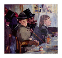 Cabaret in Reichshoffen by Manet Picture Frame print