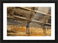 Detail Of Burnt Building Picture Frame print