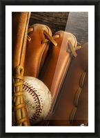 Baseball Glove And Baseball Picture Frame print