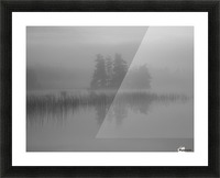 Lake Of The Woods, Ontario, Canada; Mist Rises Over Lake Picture Frame print