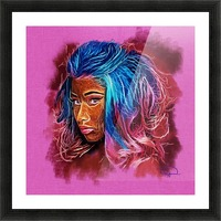 Nicki Minaj Abstracto Picture Frame print