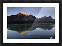 Mirror Image Of A Mountain In Water, Mount Lorette, Kananaskis, Alberta, Canada Picture Frame print