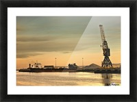 Tyne And Wear, Sunderland, England; Crane At A Shipping Dock Picture Frame print