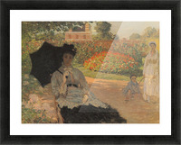 Camille in the garden with Jean and his nanny by Monet Picture Frame print