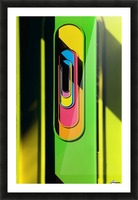Looking Through Colorful Ovals Picture Frame print