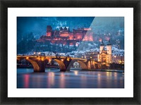 Heidelberg Castle and Old Brige in Winter Picture Frame print