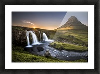 Fairy-Tale Countryside in Iceland Picture Frame print