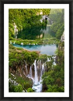 Waterfall Paradise Plitvice Lakes in Croatia Picture Frame print