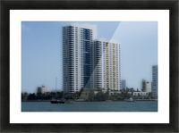 Miami Beach Buildings Picture Frame print