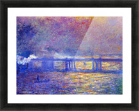 Charing cross bridge by Monet Picture Frame print
