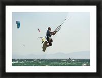Kitesurfing; Tarifa, Cadiz, Andalusia, Spain Picture Frame print