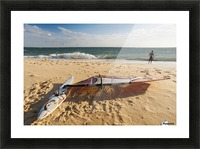 A Man On The Beach With His Windsurfing Board; Tarifa, Cadiz, Andalusia, Spain Picture Frame print