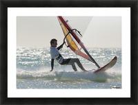 Windsurfing; Los Lances Beach Tarifa Spain Picture Frame print