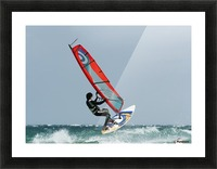 A Windsurfer In The Water; Tarifa, Cadiz, Andalusia, Spain Picture Frame print