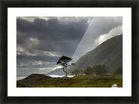 Dark Clouds Over A Landscape Along The Coast; Ardnamurchan, Argyll, Scotland Picture Frame print