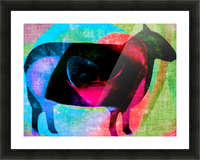 black sheep Picture Frame print