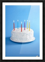 Birthday Cake With Candles Picture Frame print