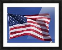 American Flag; Pahreah, Utah, United States of America Picture Frame print