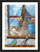 catnap Picture Frame print