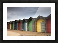 Colourful Beach Huts; Blythe, Northumberland, England Picture Frame print