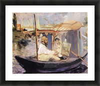 Claude_Monet_dans_son_bateau_atelier_1874 by Manet Picture Frame print
