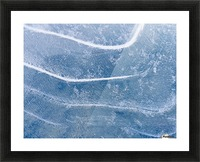 Abstract Patterns In The Ice During Winter Along The Tony Knowles Coastal Trail, Anchorage, Southcentral Alaska Picture Frame print