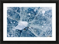 Close Up Of Cracks In The Ice Of Nenana River Near Denali National Park, Southcentral Alaska, Winter Picture Frame print
