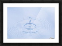 Close Up Of Water Droplet Hitting The Surface Of Water Alaska Picture Frame print