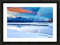 Scenic View At The Eklutna Tailrace Off The Old Glenn Highway In The Matanuska-Susitna Valley, Southcentral Alaska, Hdr Picture Frame print
