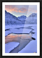 Colorful Sunrise Over A Stream At The Eagle River Nature Center In Chugach State Park, Southcentral Alaska, Winter, Hdr Picture Frame print