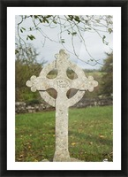 A celtic cross tombstone;Ireland Picture Frame print