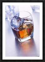 Glass of whiskey Picture Frame print