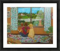 looking out the window Picture Frame print