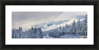 Clouds Clearing Over Seward Highway From The Kenai Mountains Above Turnagain Pass After A Winter Snow Storm, Fresh Snow In The Trees, Early Morning Sun, Turnagain Pass, Chugach National Forest, Southcentral Alaska, Usa. Picture Frame print