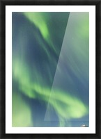Northern Lights In The Sky Above The Chena Lakes Recreation Area; Fairbanks, Alaska, United States Of America Picture Frame print