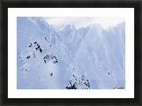Backcountry Skiing In The Chugach Mountains In Late Winter; Southcentral Alaska, United States Of America Picture Frame print