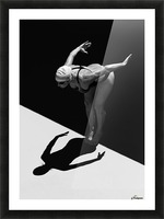 A Woman Prepares To Jump Backwards Off The Edge Of A Pool Into The Water; Tarifa, Cadiz, Andalusia, Spain Picture Frame print