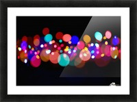 The Blur Of Coloured Lights; Edmonton, Alberta, Canada Picture Frame print